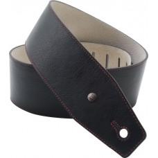Dunlop BMF03BK 2.5'' Red Line Ремень для гитары кожаный