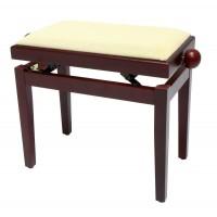 Gewa FX Piano bench Mahogany Matt Beige Seat Банкетка для фортепиано