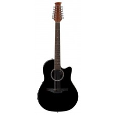 Applause AB2412II-5 Balladeer Mid Cutaway Black Гитара 12-струнная электроакустическая