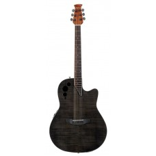 Applause AE44IIP-TBKF Mid Cutaway Transparent Black Flame Гитара электроакустическая