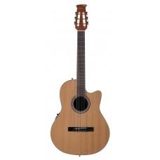 Applause AB24CII-CED Balladeer Mid Cutaway Nylon Natural Satin Гитара классическая электроакустическая