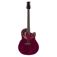 Ovation CE44-RR Celebrity Elite Mid Cutaway Ruby Red Гитара электроакустическая