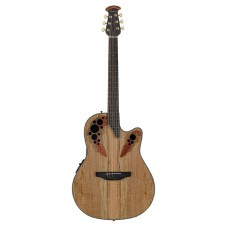 Ovation CE44P-SM Celebrity Elite Plus Mid Cutaway Natural Spalted Maple Гитара электроакустическая