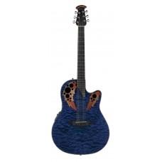 Ovation CE44P-8TQ Celebrity Elite Plus Mid Cutaway Trans Blue Quilt Maple Гитара электроакустическая