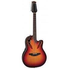 Ovation 2758AX-NEB Standard Elite Deep Contour Cutaway New England Burst Гитара 12-струнная электроакустическая