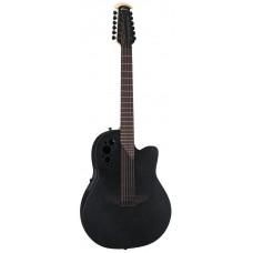 Ovation 2058TX-5 Elite T Deep Contour Cutaway Black Textured Гитара 12-струнная электроакустическая