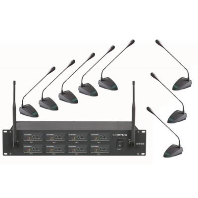 Opus UHF-808 Радиосистема 8 настольных микрофонов для конференц связи